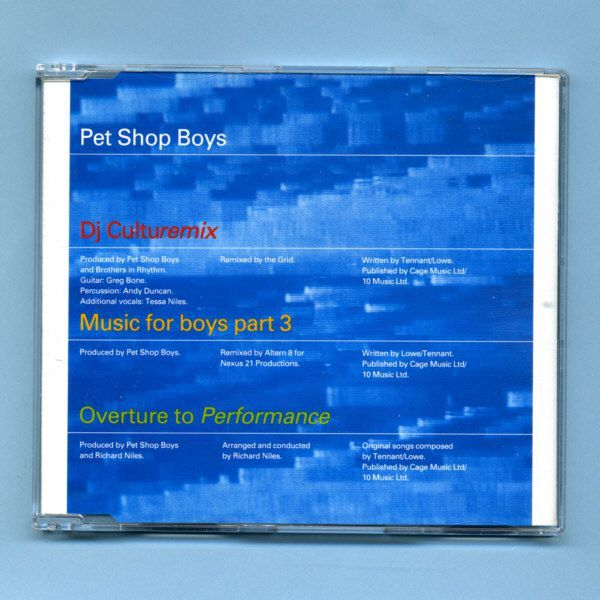 Pet Shop Boys - DJ Culturemix (Remix CD Maxi Single)