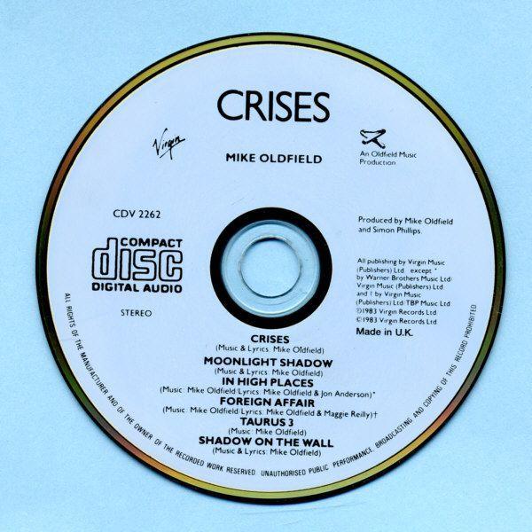 Mike Oldfield Crisis CD Album - Music Pleasuredome CD DVD ...