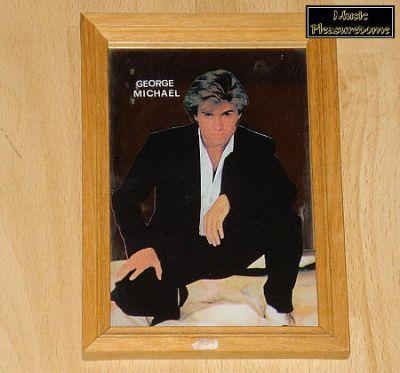 Michael, George (Wham!) - gerahmter Spiegel mit Bild